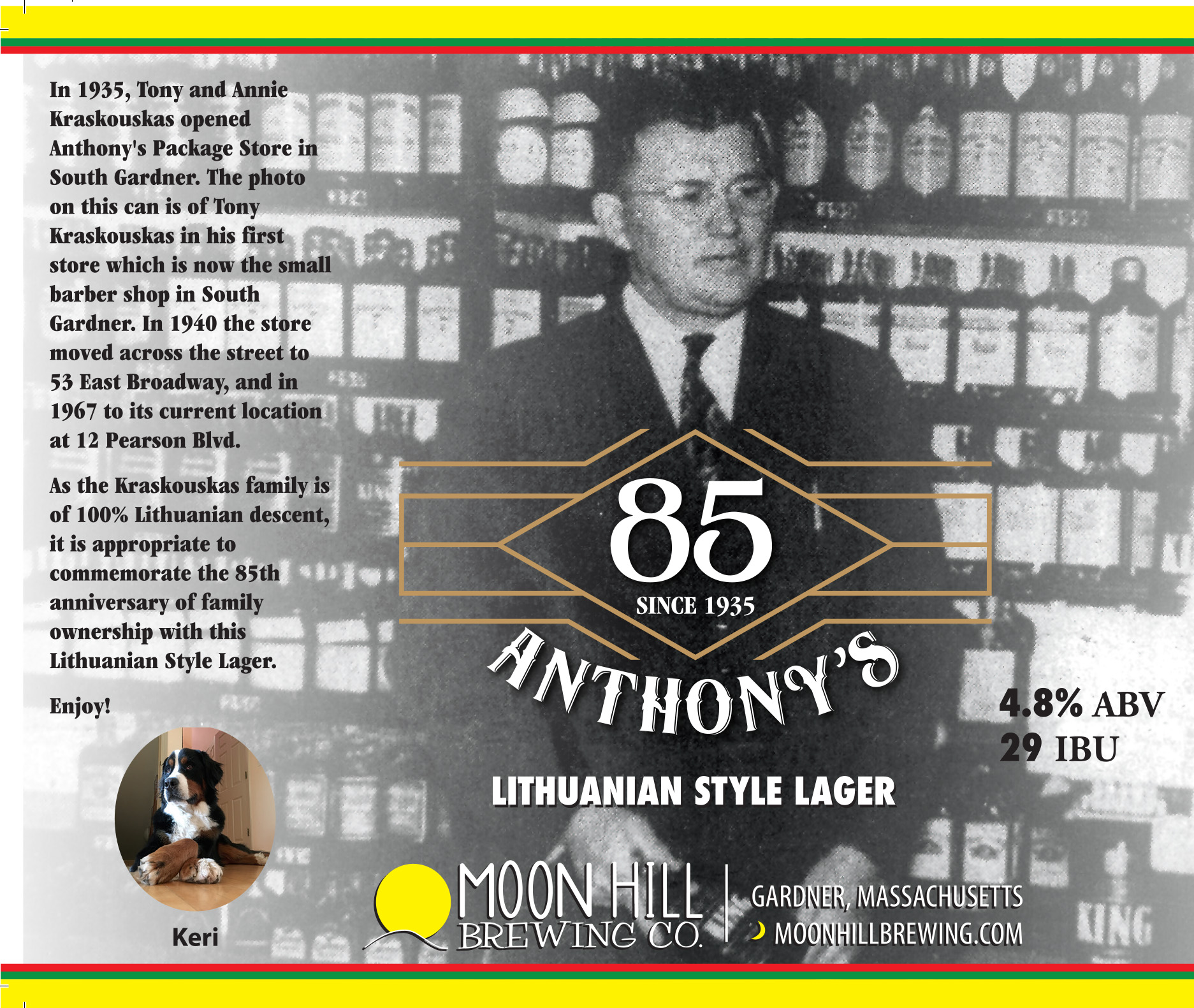 Anthony's Liquor Mart Lithuanian Lager Can